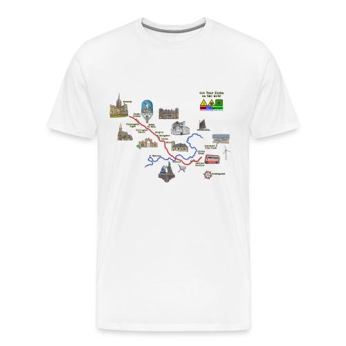A146 Map 2 - Men's Premium T-Shirt