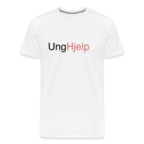 unghjelp sort ung uten logo - Premium T-skjorte for menn