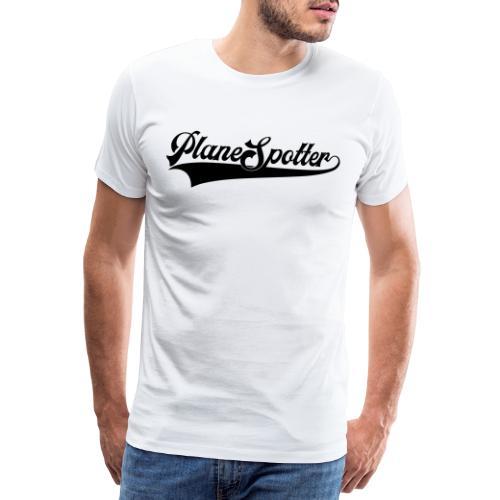 PlaneSpotter Retro - Miesten premium t-paita