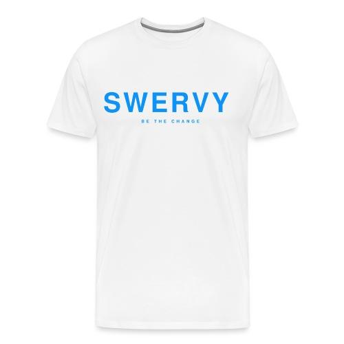 SWERVY BE THE CHANGE - BLUE - Men's Premium T-Shirt