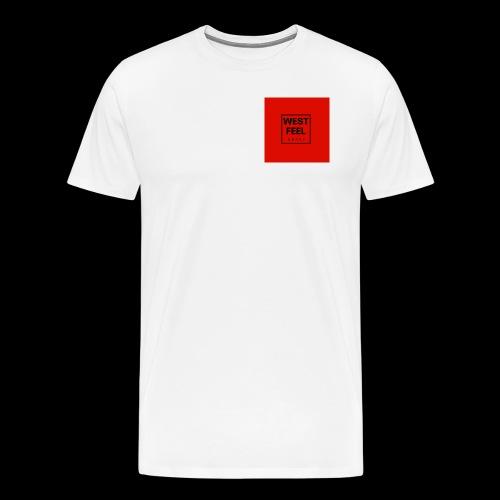 WEST FEEL logo rouge - T-shirt Premium Homme