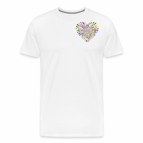 illusion heart colour - Men's Premium T-Shirt