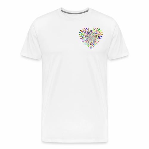 illusion heart colour - Men's Premium T-Shirt