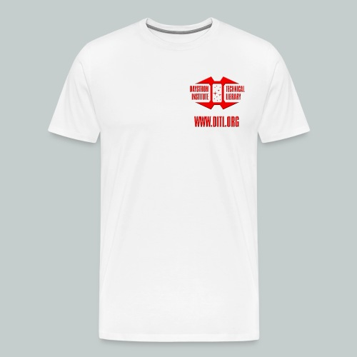 Logo with URL - Men's Premium T-Shirt