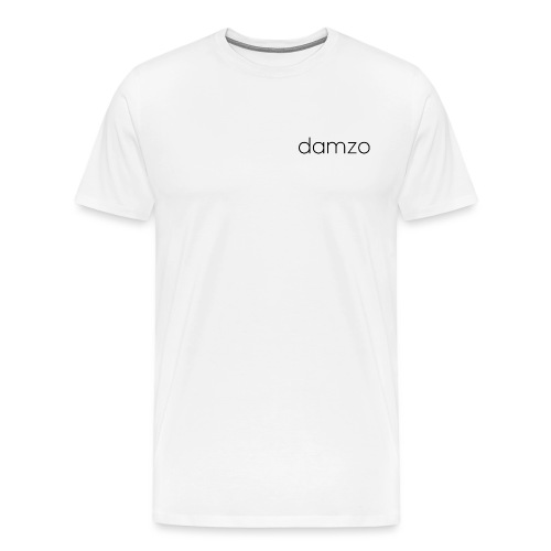 Damzo Simple 2 Sided Text Tee - Men's Premium T-Shirt