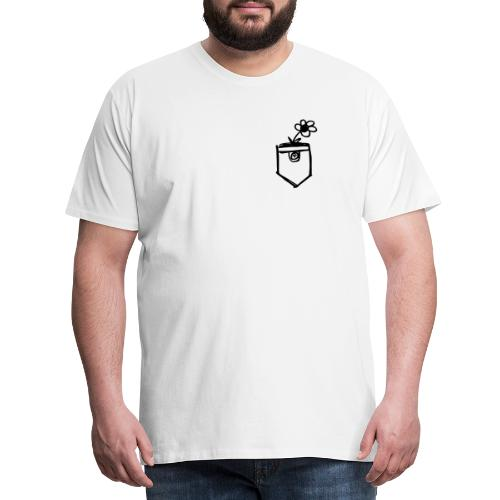 Brusttasche. - Männer Premium T-Shirt
