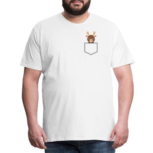 Taschentier Rentier - Männer Premium T-Shirt
