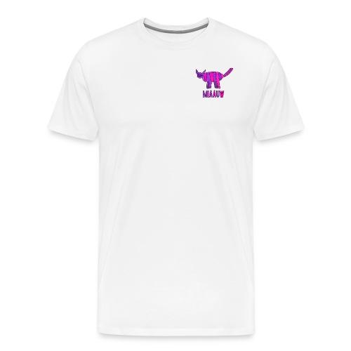 miaauw, paarse poes - Mannen Premium T-shirt