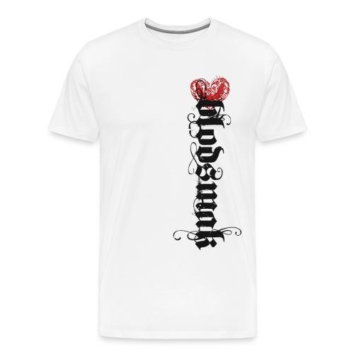 Hjertefuglrød png - Premium T-skjorte for menn