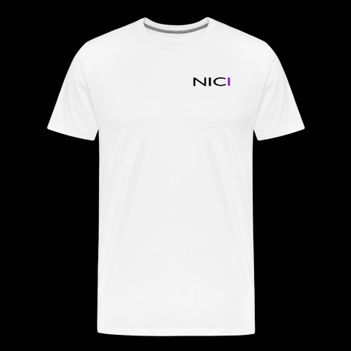NICI logo Black - Miesten premium t-paita