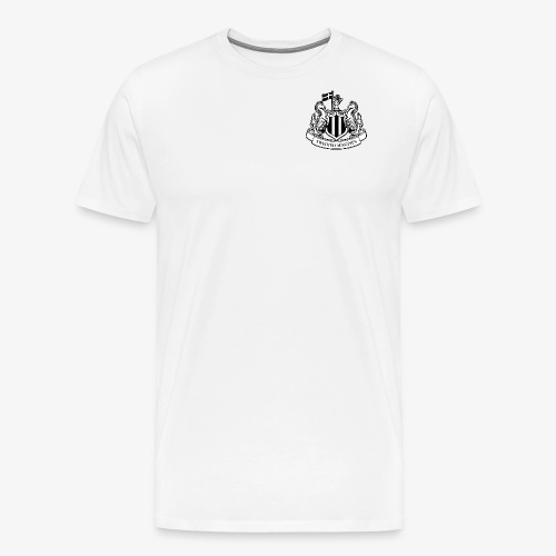 magpies-logo-svart - Premium-T-shirt herr