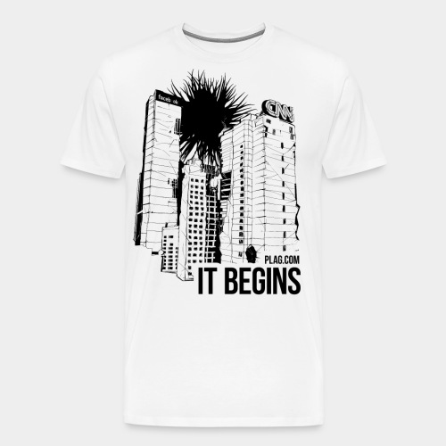 It begins Black - Men's Premium T-Shirt