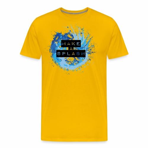 Make a Splash - Aquarell Design in Blau - Männer Premium T-Shirt