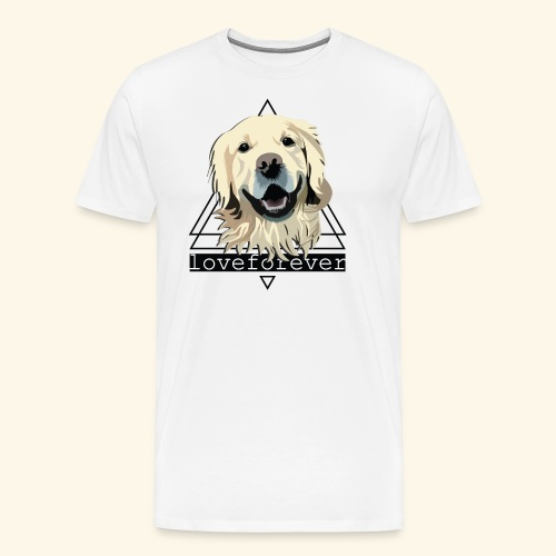 RETRIEVER LOVE FOREVER - Camiseta premium hombre