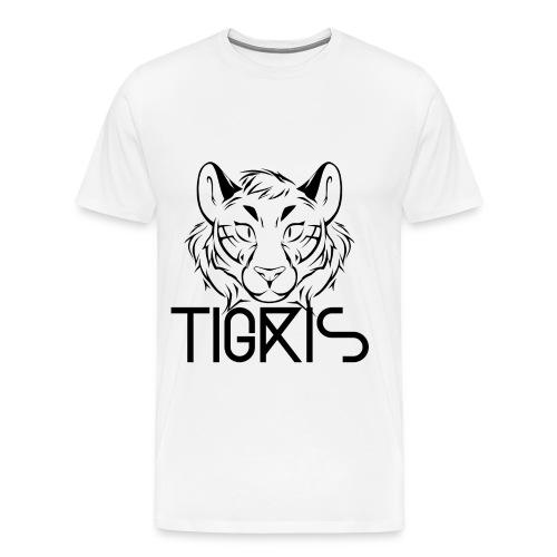 Tigris Logo Picture Text Black - Men's Premium T-Shirt