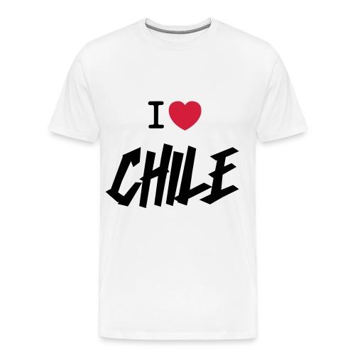 I Love Chile Graffiti - Premium-T-shirt herr