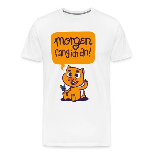 Schweinehund-Motto - Männer Premium T-Shirt