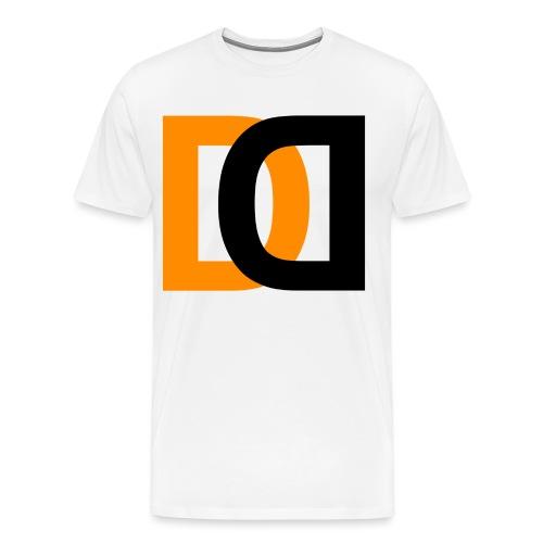 Dutch Driveclub logo oranje zwart transparante ach - Mannen Premium T-shirt