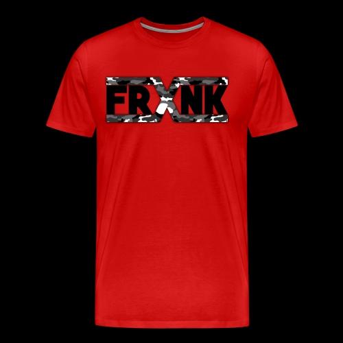 Grey Camo 'FRXNK' Logo - Men's Premium T-Shirt