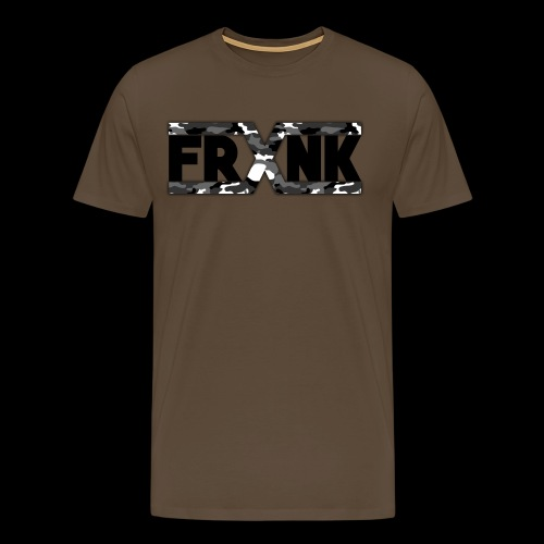 Grey Camo 'FRXNK' Logo - Men's Premium T-Shirt