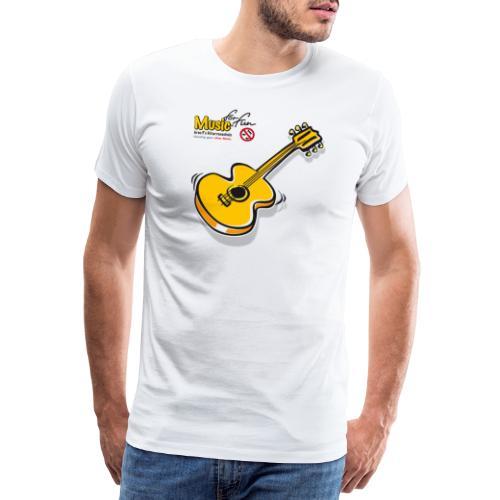 MusicForFun - heller Hintergrund - Männer Premium T-Shirt