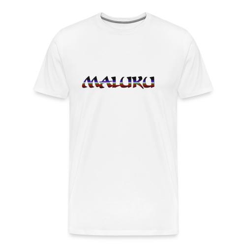 Badju Maluku Putih - Mannen Premium T-shirt