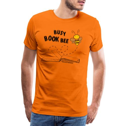 Bees5 - Bees and Books | save the bees - Men's Premium T-Shirt