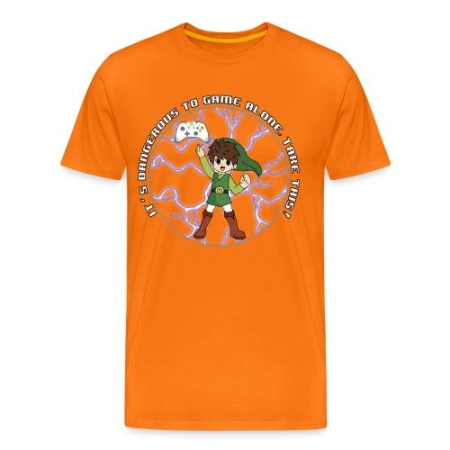Dangerous To Game Alone - Men's Premium T-Shirt