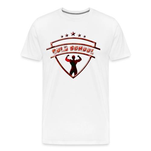 double biceps rouge motif - T-shirt Premium Homme