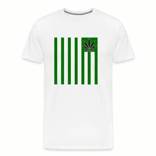 Cannabis Stripes - Männer Premium T-Shirt