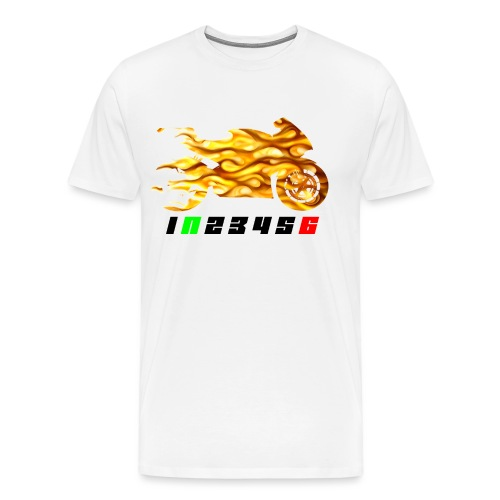 Mototrcycle flames - Men's Premium T-Shirt