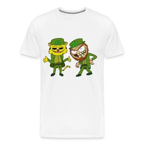 2 leperchaunleopardchaun - Men's Premium T-Shirt