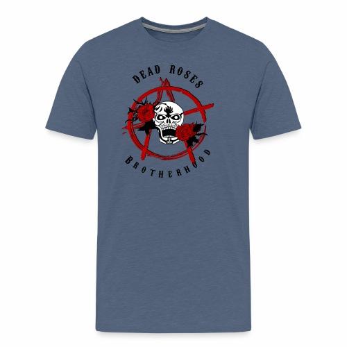 Dead Roses Anarchy Skull Black - Men's Premium T-Shirt