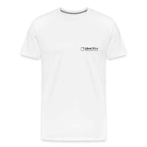 LibreOffice w TDF tagline black white - Men's Premium T-Shirt