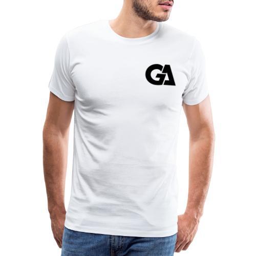 GA Zwart Logo Merch - Mannen Premium T-shirt
