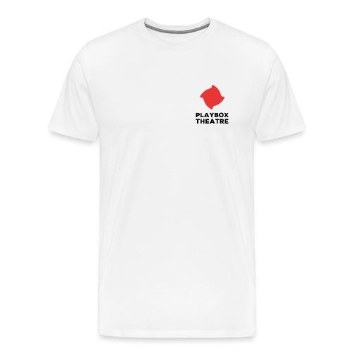 Red Playbox Logo Stacked - Men's Premium T-Shirt