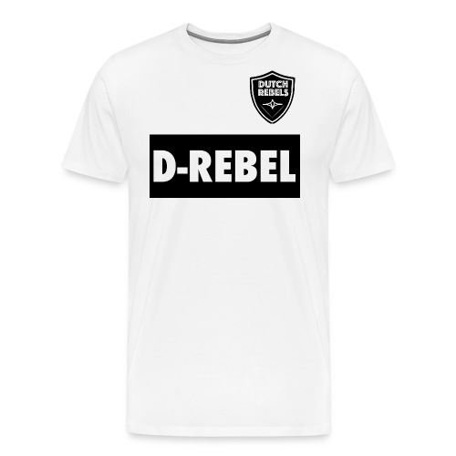 DREBEL SIDE AND STICKER - Mannen Premium T-shirt