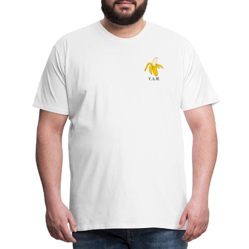 Y.A.M. LOGO Wit - Mannen Premium T-shirt