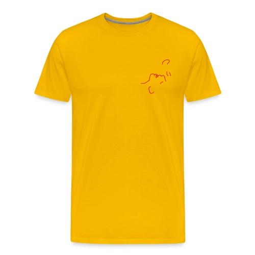 'I am here' (pocket) - Men's Premium T-Shirt