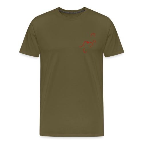 'I am here' (pocket) - Men's Premium T-Shirt