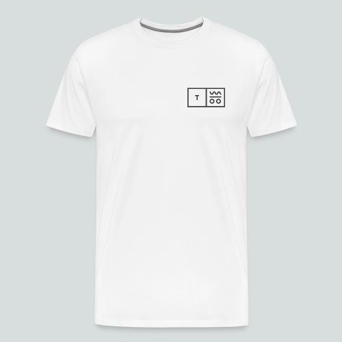 Logo dunkel 2x - Männer Premium T-Shirt