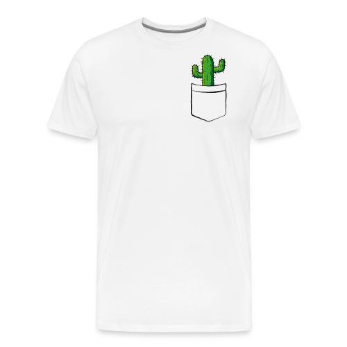 Kaktus in der Tasche – lustige Geschenkidee - Männer Premium T-Shirt