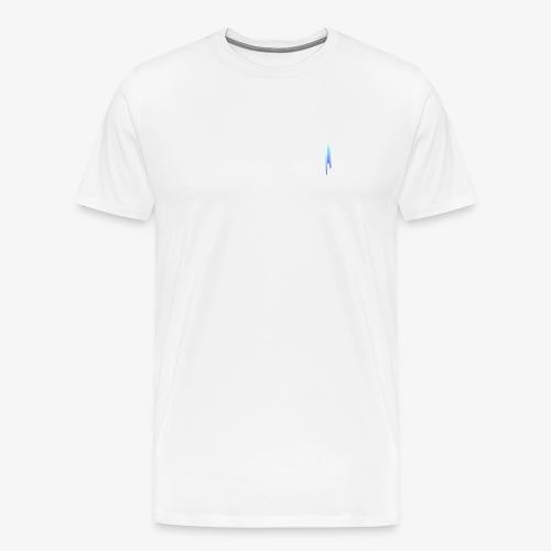 Upwards 3Lines Design AQUA - Men's Premium T-Shirt