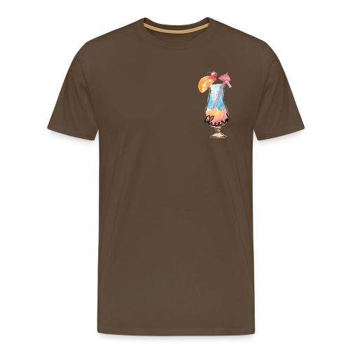 Cheers Cocktail Rainbow Swimming Pool - Männer Premium T-Shirt