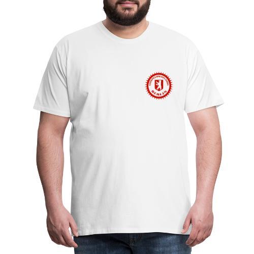 Logo in Rot Weiß - Männer Premium T-Shirt