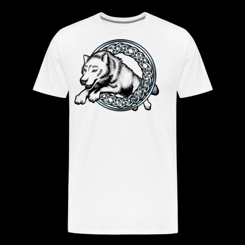 Leaping Wolf - Men's Premium T-Shirt
