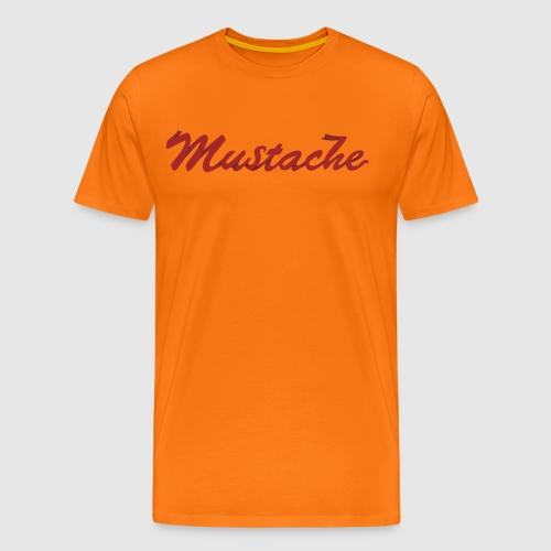 Red Mustache Lettering - Men's Premium T-Shirt