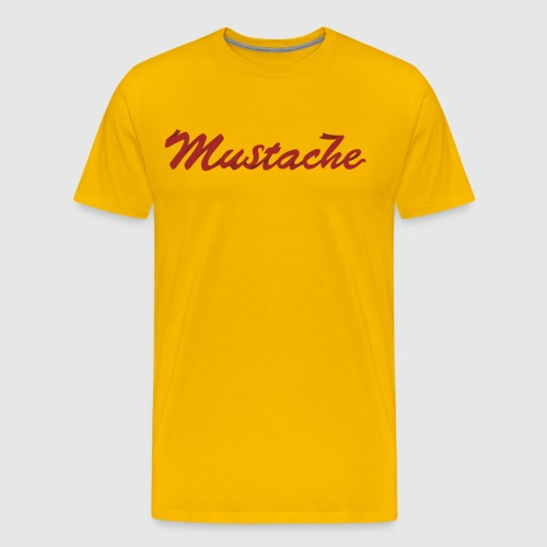 Red Mustache Lettering - Men's Premium T-Shirt