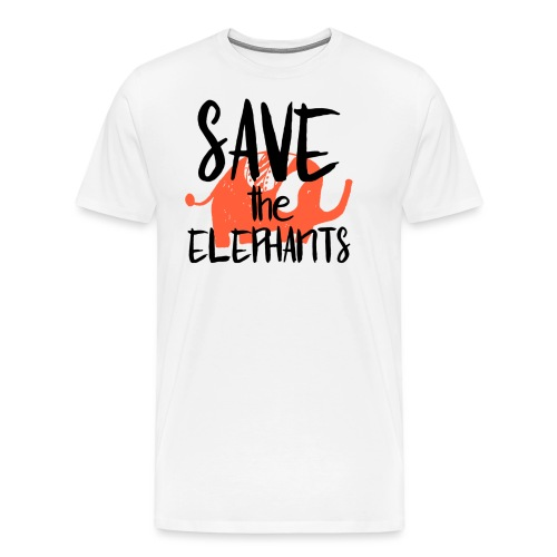 Save the Elephants - Men's Premium T-Shirt