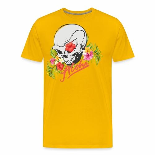 Hawaiian Skull Aloha Surfer Design - Männer Premium T-Shirt